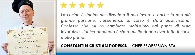 Corso Chef a Bologna Opinioni - Popescu